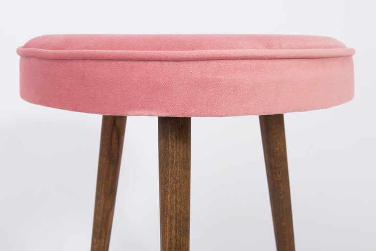 Polish Pair of 20th Century Baby Pink Stools, 1960s For Sale