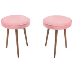 Pair of 20th Century Baby Pink Stools, 1960s
