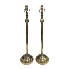 Pair of 20th Century Contemporary Tall Metal Lamps