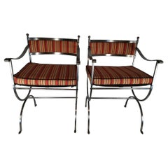 Pair of 20th Century French Armchairs Neo Gotic Style