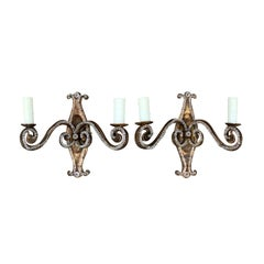 Pair of 20th Century French Beaded Glass Sconces in the Style of Maison Baguès