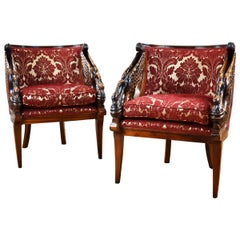 Pair of 20th Century French Empire Style Armchairs