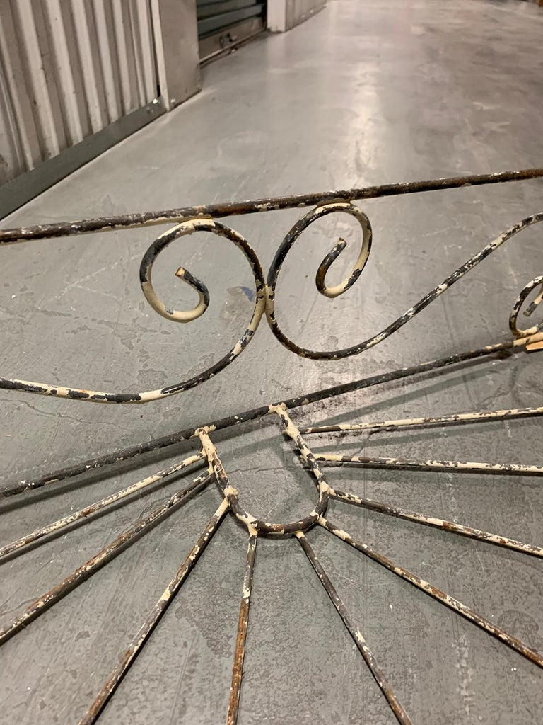 Pair of 20th Century French Iron Wire Planters For Sale 7
