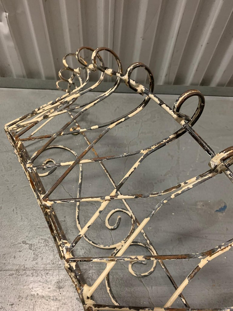 Pair of 20th Century French Iron Wire Planters For Sale 10
