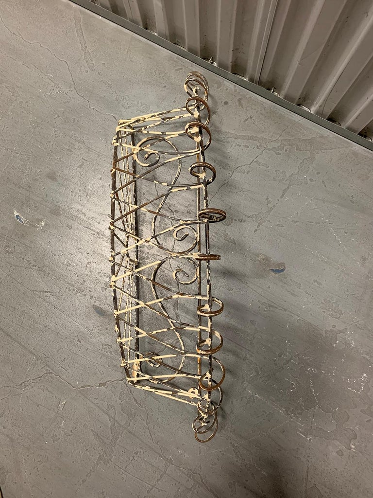 Pair of 20th Century French Iron Wire Planters For Sale 3
