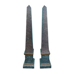 Pair of 20th Century French Tailleur Fils & Cie Tole Obelisks