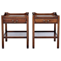 Pair of 20th Century Georgian Design Mahogany Side Tables
