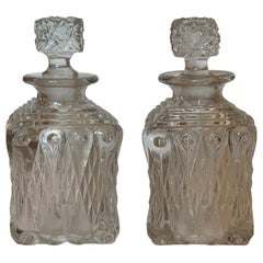 Pair of 20th Century Glass Decanters