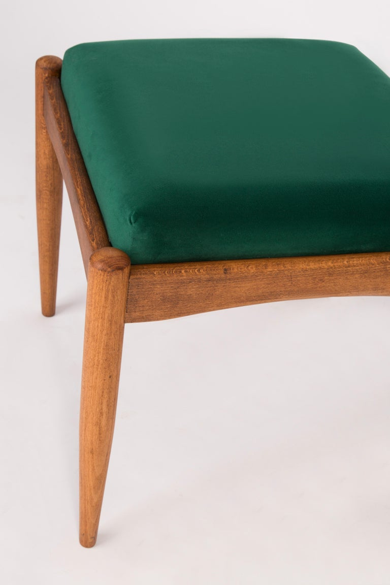 Polish Pair of 20th Century Green Stools, 1960s For Sale