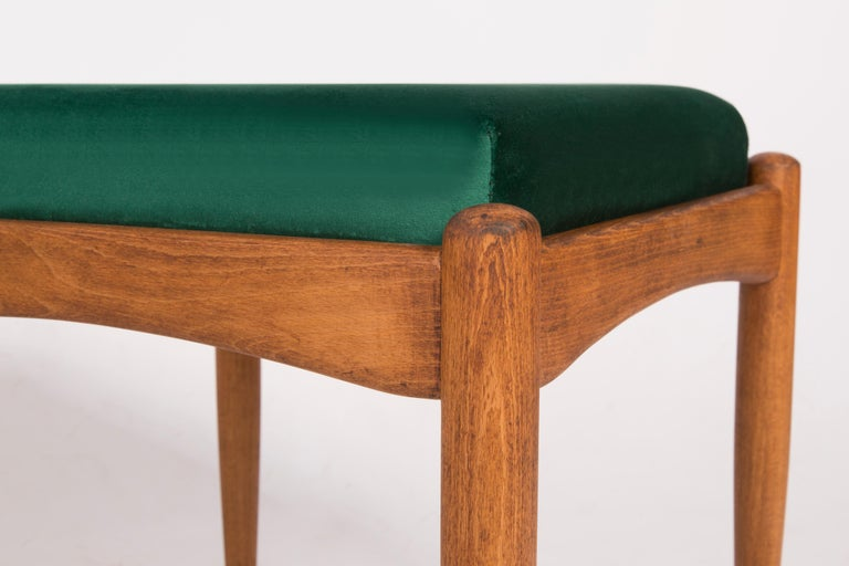 Hand-Crafted Pair of 20th Century Green Stools, 1960s For Sale