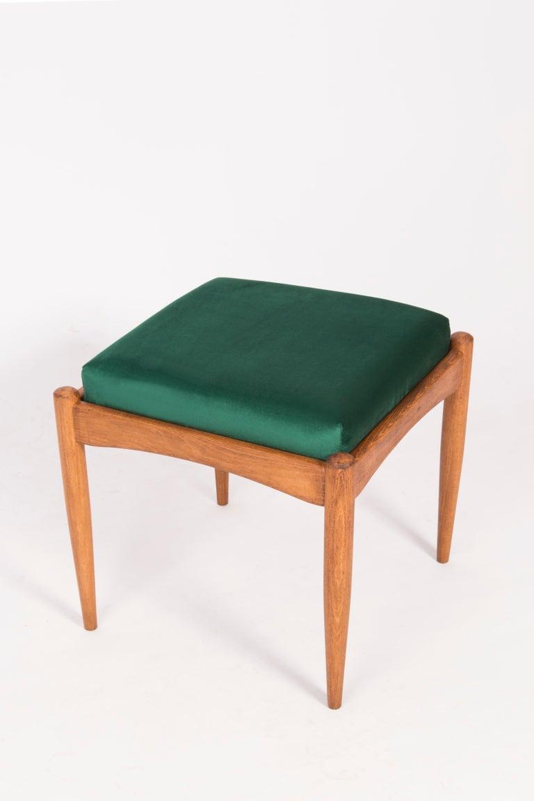 Velvet Pair of 20th Century Green Stools, 1960s For Sale