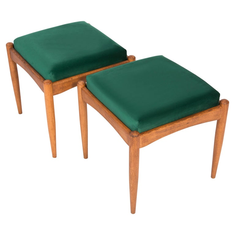 Pair of 20th Century Green Stools, 1960s For Sale