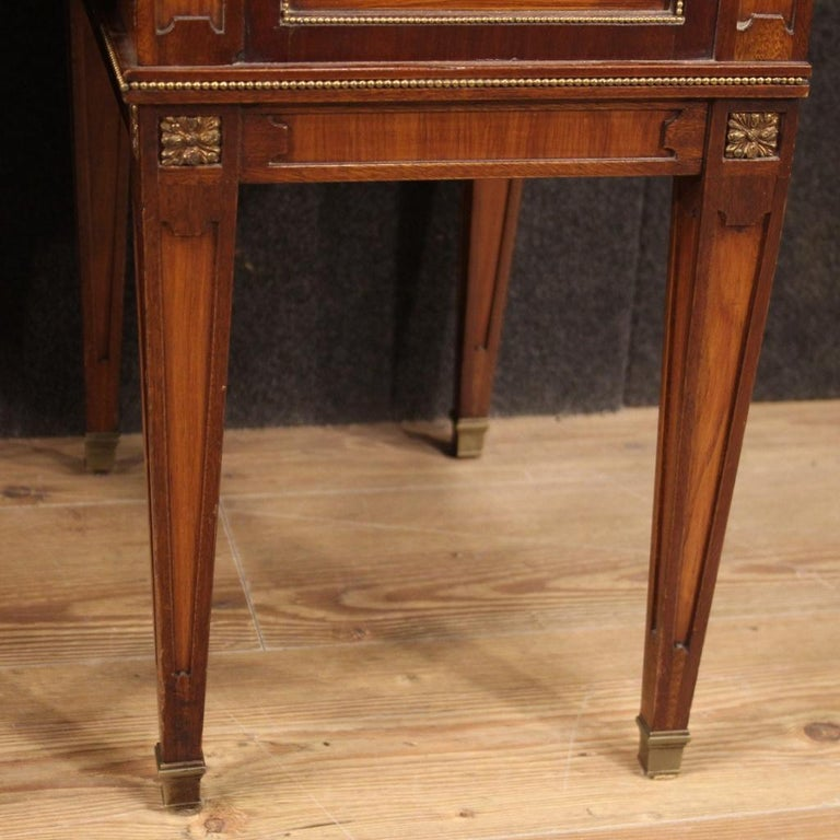 Pair of 20th Century Inlaid Wood French Louis XVI Style Bedside Tables, 1960 5