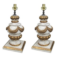 Pair of 20th Century Italian Giltwood Lamps