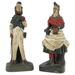Pair of Italian Figural Pen-Holders 20th Century Grand Tour Desk Accessories