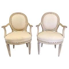 Pair of 20th Century Italian Style Polychrome Armchairs