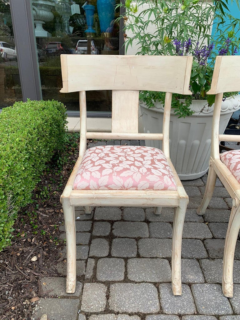 Pair of 20th Century Klismos Side Chairs, in the Style of T.H. Robsjohn-Gibbings For Sale 2