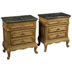 Pair of 20th Century Lacquered Wood Italian Nightstands, 1960