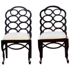 Loop Chairs in the Style of Frances Elkins , A Pair