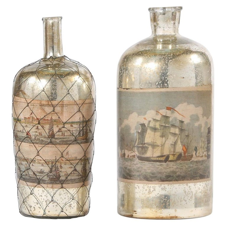 Pair 20th Century Mercury Glass Decorative Pieces For Sale At 1stdibs