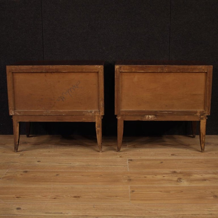 Pair of 20th Century Palisander Exotic Wood Italian Design Nightstands, 1960 For Sale 3