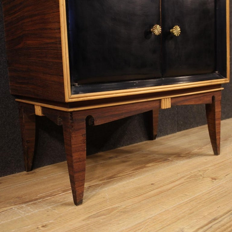 Pair of 20th Century Palisander Exotic Wood Italian Design Nightstands, 1960 For Sale 5