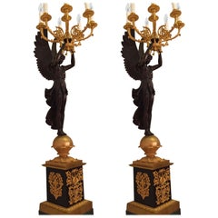 Pair of 20th Century Princely Candelabra After Pierre Philippe Thomire