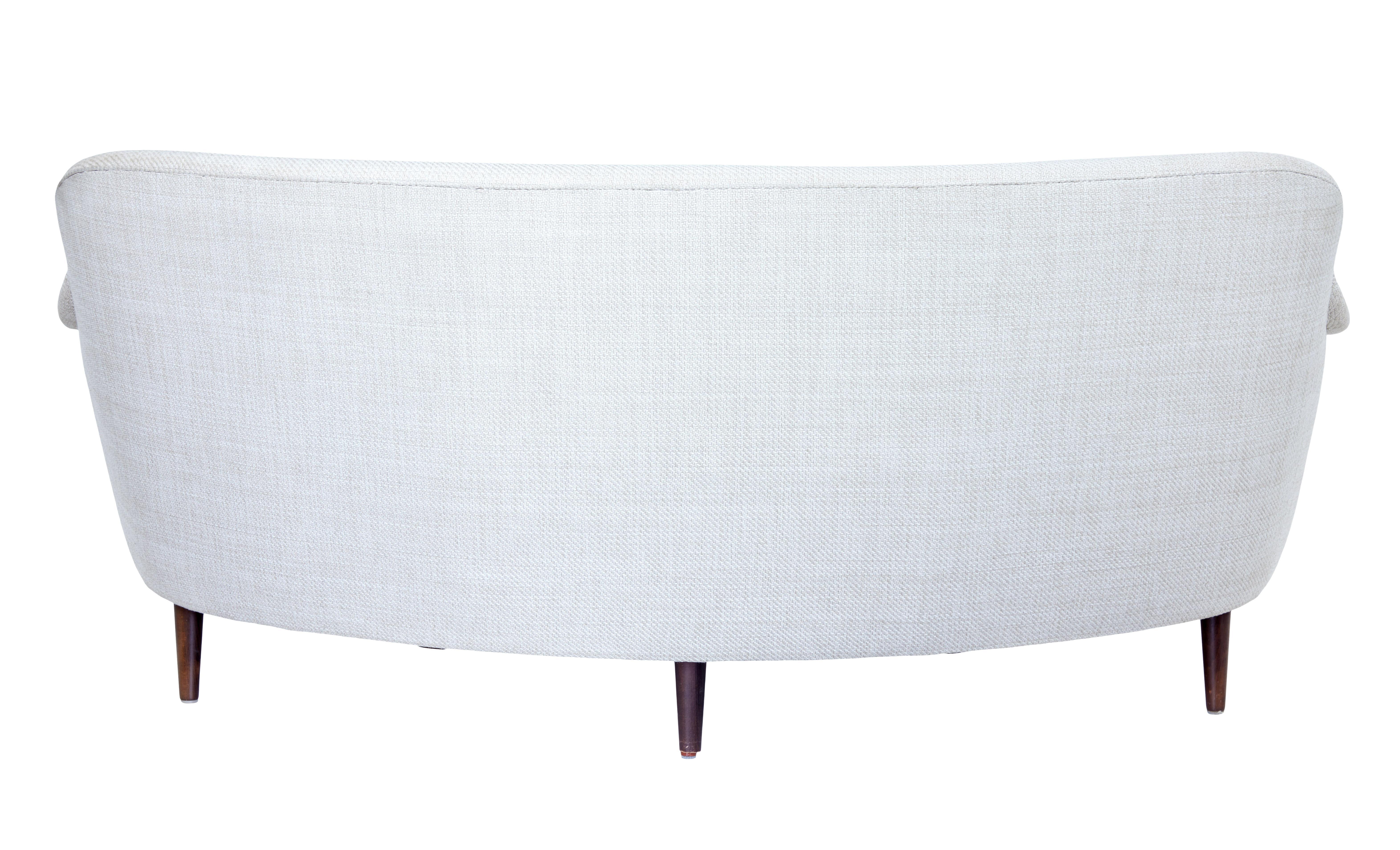 Pair Of 20th Century Shaped Sofas By Carl Malmsten Samsas Rund