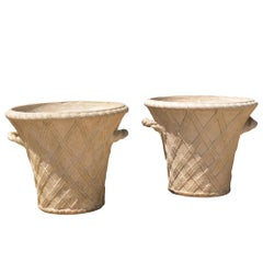 Pair of 20th Century Terracotta Garden Planters by Philip Thomason