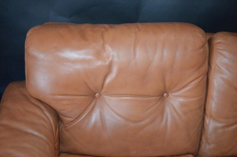 Leather Pair of 20th Century Tobia Scarpa Coronado Sofa by B&B Italia For Sale