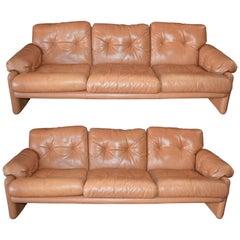 Pair of 20th Century Tobia Scarpa Coronado Sofa by B&B Italia