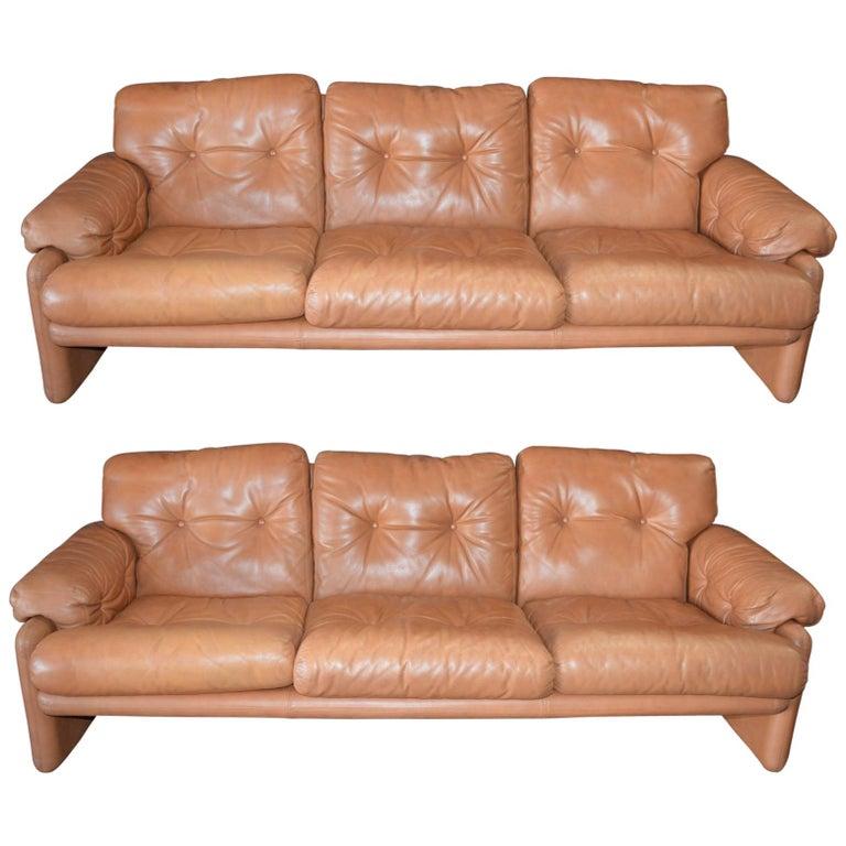 Pair of 20th Century Tobia Scarpa Coronado Sofa by B&B Italia For Sale