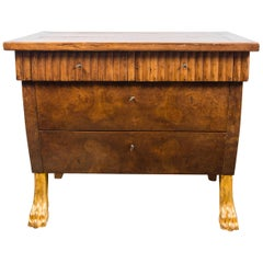 Pair of 20th Century Walnut Commodes