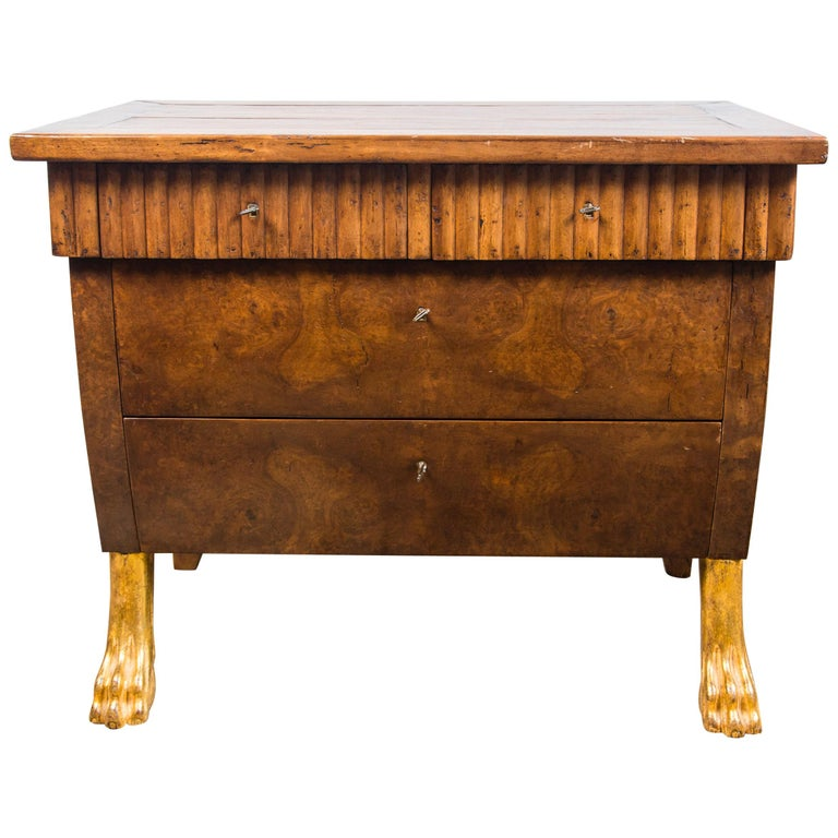 Pair of 20th Century Walnut Commodes For Sale