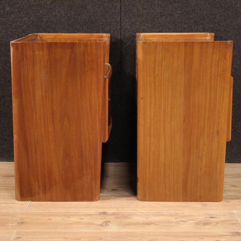 Pair of 20th Century Wood Italian Design Bedside Tables, 1960 For Sale 4