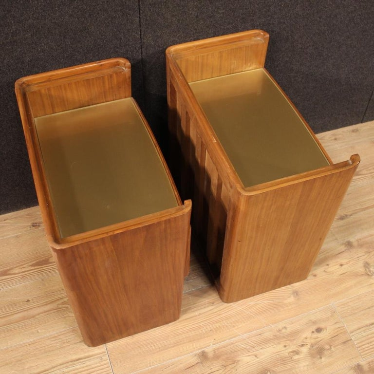 Pair of 20th Century Wood Italian Design Bedside Tables, 1960 For Sale 5