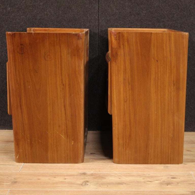 Pair of 20th Century Wood Italian Design Bedside Tables, 1960 For Sale 3