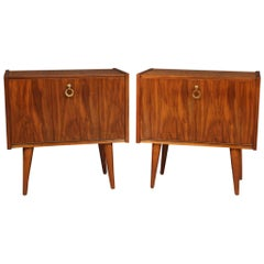 Pair of 20th Century Wood Italian Design Bedside Tables, 1970