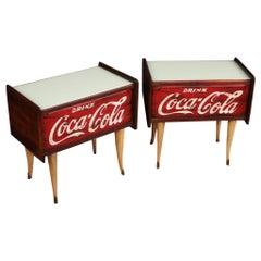 Pair of 20th Century Wood Italian Design Nightstands, 1960