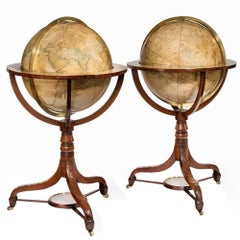 Pair of Cary's Terrestrial and Celestial Library Globes, 1790-1825