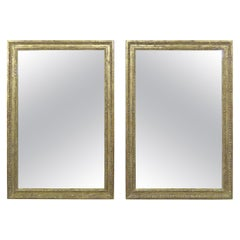 Pair of 22-Karat Gold Leaf Carved Mirrors by Melissa Levinson