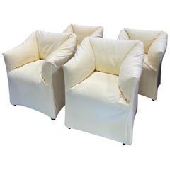 Pair of 4 Tentazione Lounge Chairs for Cassina by Mario Bellini
