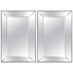 Pair of 5-Panel Beveled Mirrors
