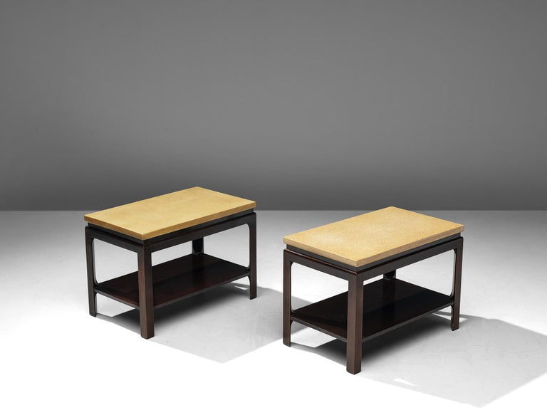 Mid-Century Modern Pair of 5015 Side Tables by Paul Frankl, circa 1951 For Sale