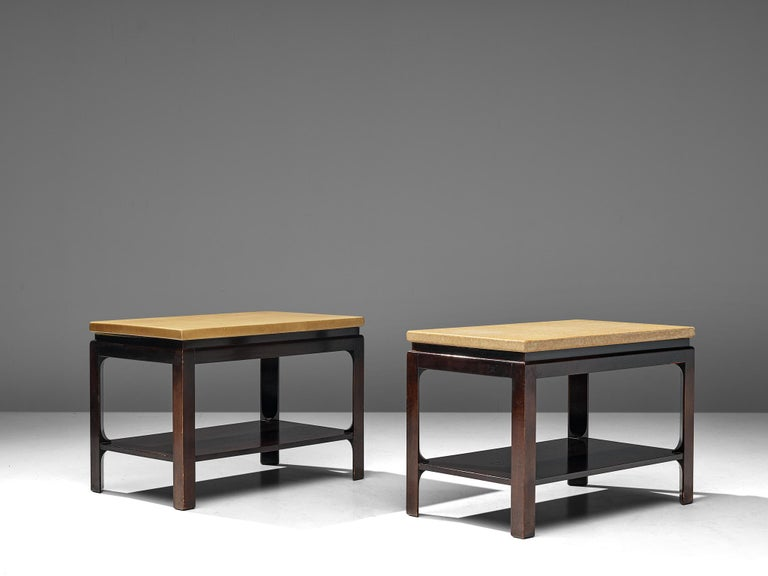 Virgin Islands Pair of 5015 Side Tables by Paul Frankl, circa 1951 For Sale