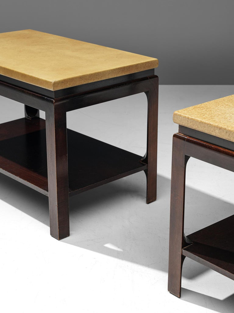 Pair of 5015 Side Tables by Paul Frankl, circa 1951 In Good Condition For Sale In Waalwijk, NL