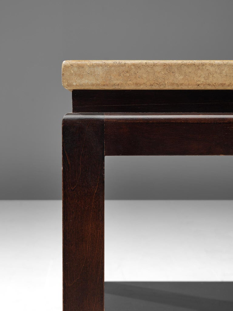 Mahogany Pair of 5015 Side Tables by Paul Frankl, circa 1951 For Sale