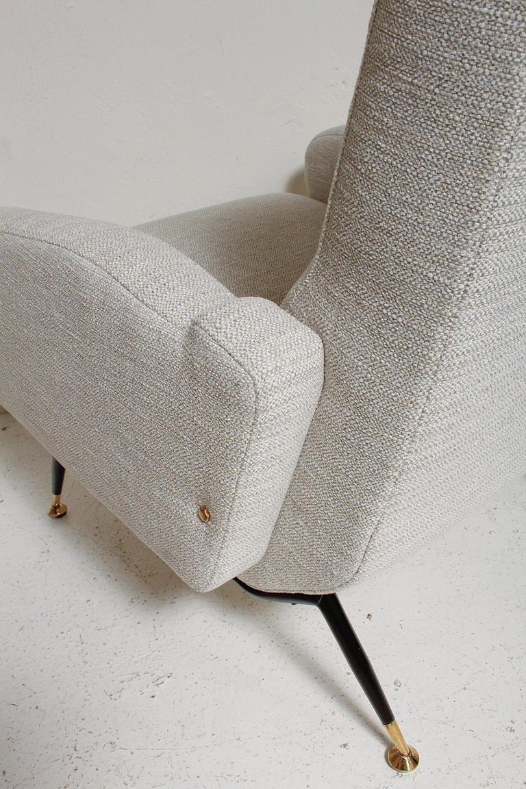 Pair of 1950s Gigi Radice Lounge Chairs, Fully Restored For Sale 9