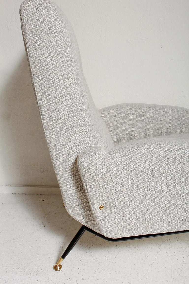 Pair of 1950s Gigi Radice Lounge Chairs, Fully Restored For Sale 10