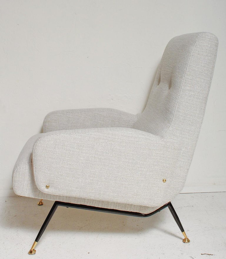 Pair of 1950s Gigi Radice Lounge Chairs, Fully Restored In Good Condition For Sale In North Miami, FL